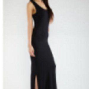 RainbowShops.com Soft Knit Maxi Dress, Black Sz S